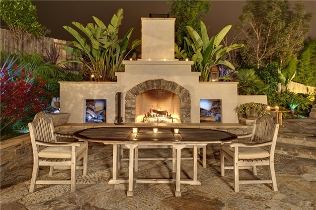 Backyard Fireplace Pictures : Southwestern Backyard FireplaceOutdoor FireplaceSummit Services, Inc