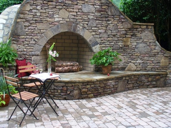 Landscaping Stone Georgia : Outdoor fireplace smyrna ga photo gallery