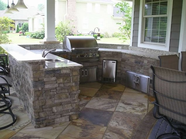 Big Outdoor Kitchen Outdoor Kitchen Craig Design Group Chattanooga, TN