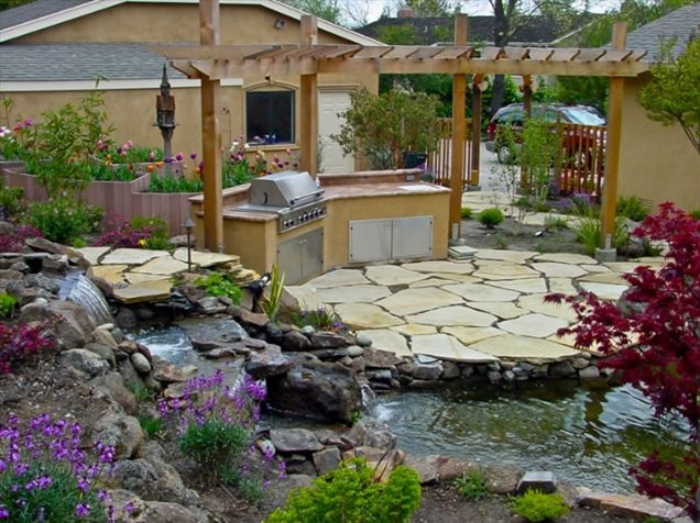 Outdoor kitchen pleasanton ca photo gallery for Outdoor cooking areas designs