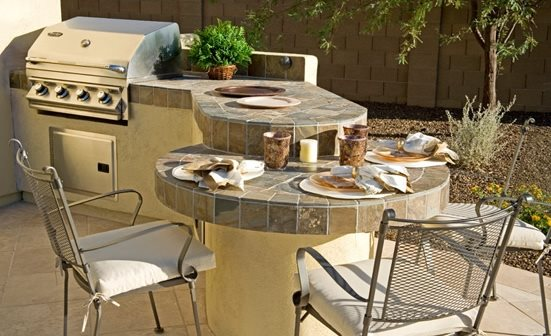 Outdoor kitchen phoenix az photo gallery for Outdoor kitchen bar plans
