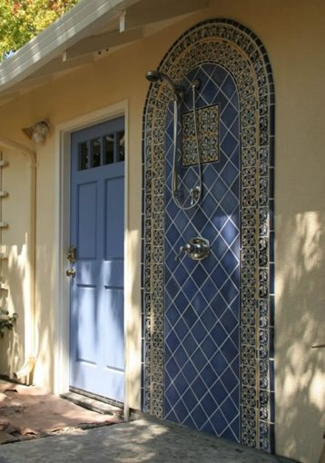 Outdoor showers sausalito ca photo gallery for Sausalito tile