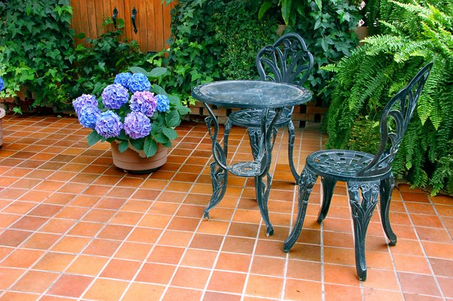 Terra Cotta Tile PatioPatioLandscaping NetworkCalimesa CA