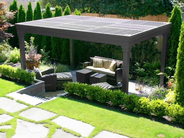 Backyard Pergola Designs : Backyard Pergola DesignPergola and Patio CoverKaren Stefonick