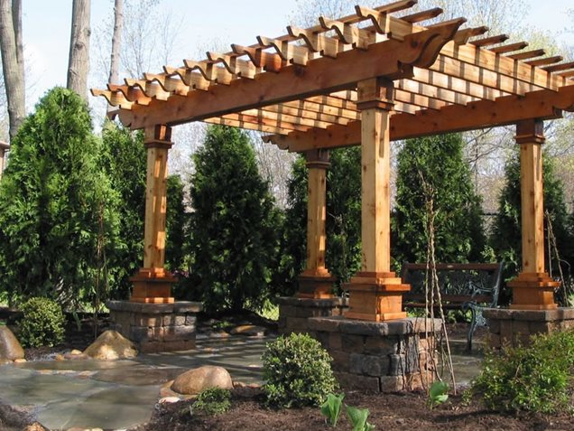Wood specialist guide how to build wood awning for Build a freestanding patio cover