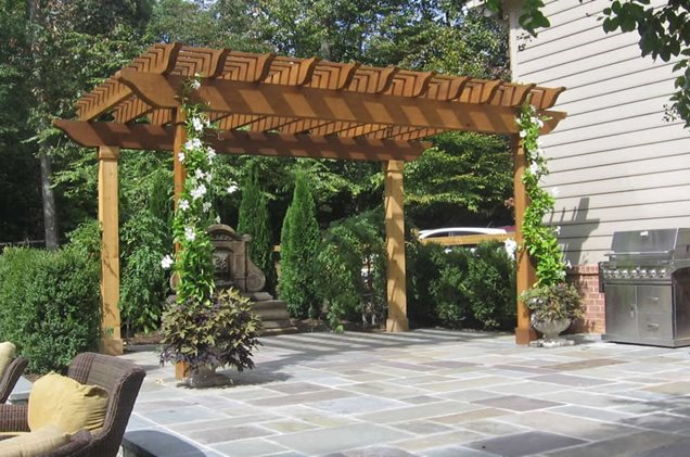 Woodworking industry trends how to build wood awning roof - Pergola climbing plants under natures roof ...