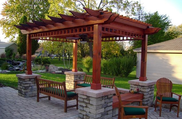 Pergola Backyard Designs : Pergola and Patio Cover  New Berlin, WI  Photo Gallery  Landscaping