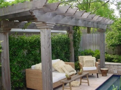 Poolside Pergola Pergola and Patio Cover Houston Greenscape Houston, TX