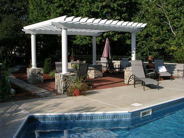 Pergola and patio cover geneva il photo gallery for Aluminum wood patio covers