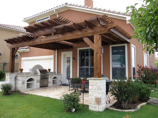 Attached Patio Pergola Cover