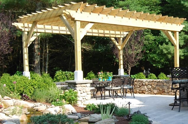 wooden shade structures