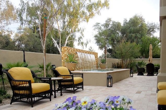 Pond and waterfall scottsdale az photo gallery for Az pond and pool
