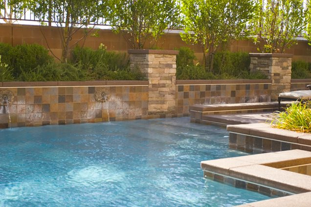 Swimming pool calimesa ca photo gallery landscaping for Raised swimming pool designs