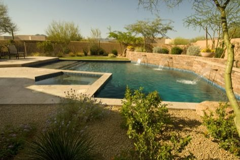 Indi scaping design backyard landscaping queen creek az for Pool design az