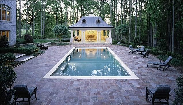 Swimming pool sterling va photo gallery landscaping for Garden pool surrounds