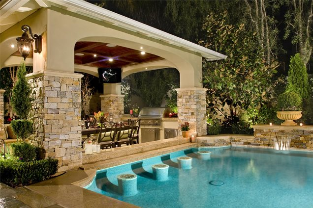 Swimming pool ladera ranch ca photo gallery for Pool design swim up bar
