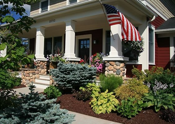 Traditional landscaping calimesa ca photo gallery for Landscaping front steps