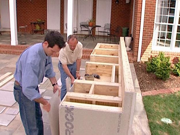Wood Framed Outdoor Kitchen. DIY Network.