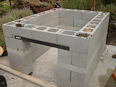 Block Outdoor Kitchen Construction