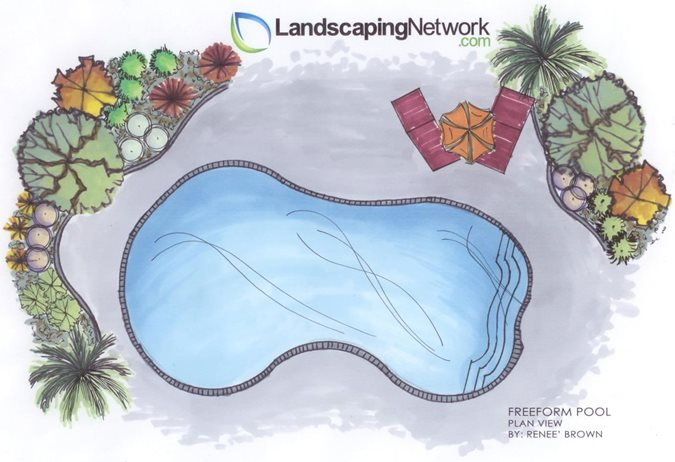 Swimming pool shapes landscaping network for Pool design classes