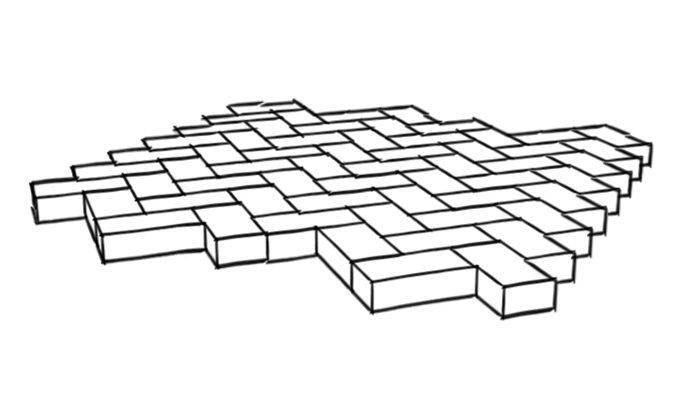 Half basket weave paver pattern : Paver patterns landscaping network