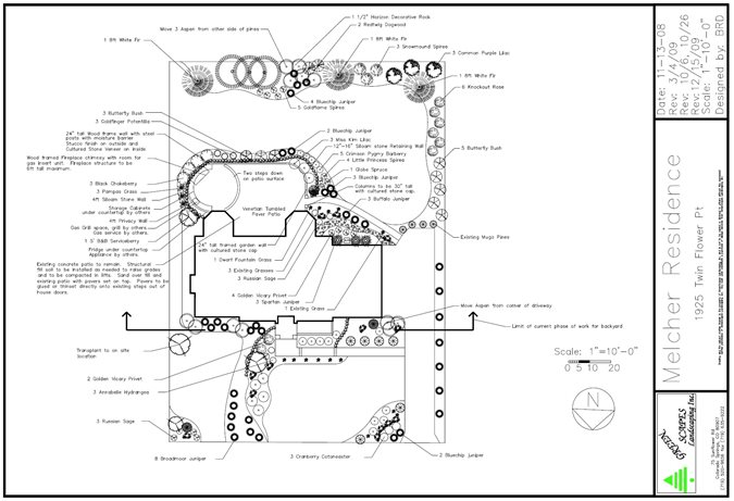 landscape plans  renderings  u0026 drawings