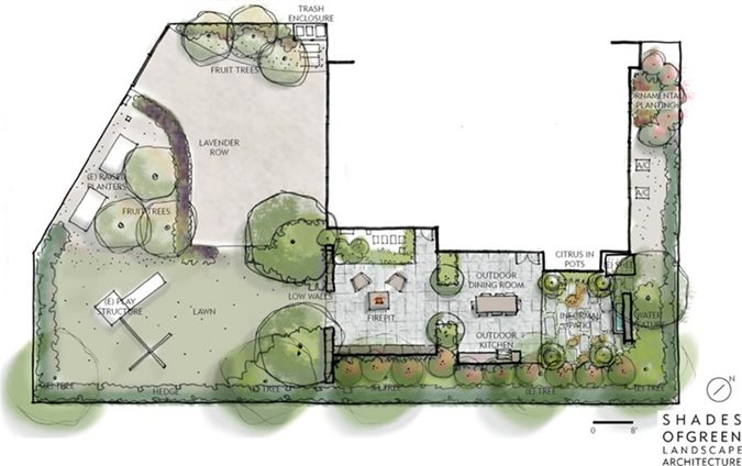 Landscape plans renderings drawings landscaping network for Landscape house plan
