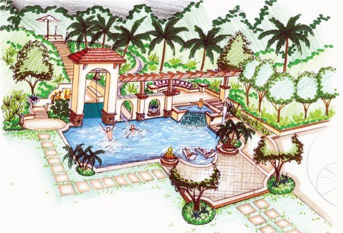 Landscape Plans  Renderings  U0026 Drawings