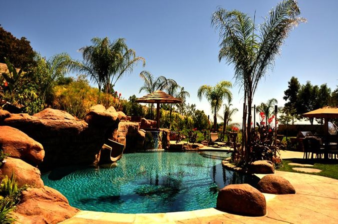Pool Styles - Landscaping Network on Tropical Backyard Ideas With Pool id=24553