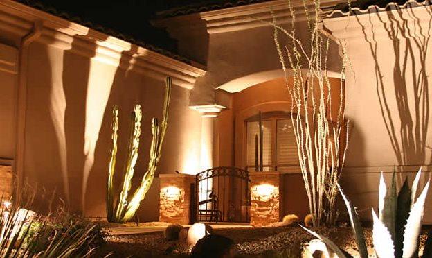 Entryway Lighting Arizona Landscaping Alexon Design Group Gilbert, AZ