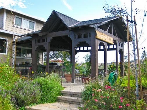 Craftsman Shade Structure Asian Landscaping LandPlan's Landscaping Pleasanton, CA