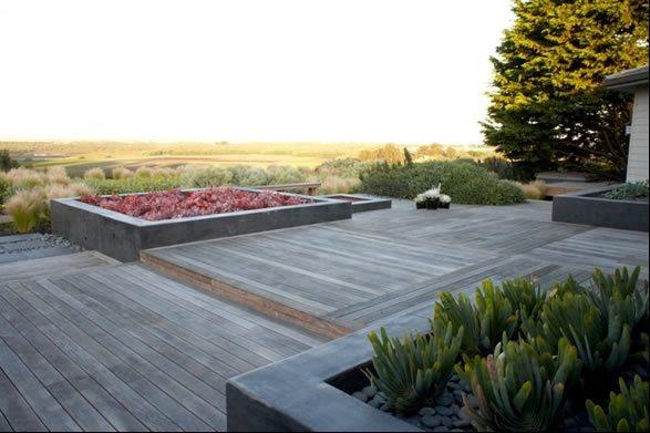 Ipe Hardwood Deck Asian Landscaping Jeffrey Gordon Smith Landscape Architecture Los Osos, CA