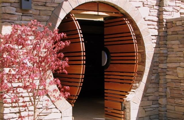 Modern Asian Gate Asian Landscaping Breckon Land Design Inc. Garden City, ID