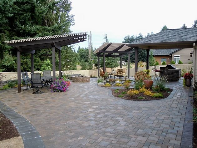 Backyard landscaping battle ground wa photo gallery for Backyard entertainment ideas