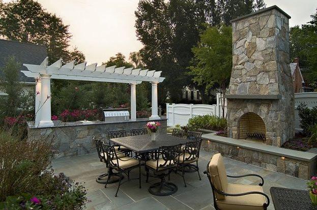 Backyard Outdoor Living Backyard Landscaping Walnut Hill Landscape Company Annapolis, MD
