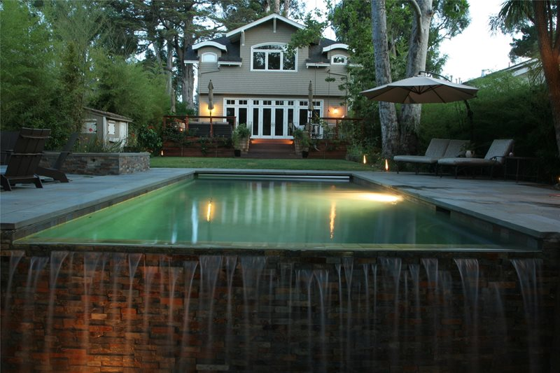 Backyard Pool Area Backyard Landscaping Shades of Green Landscape Architecture Sausalito, CA