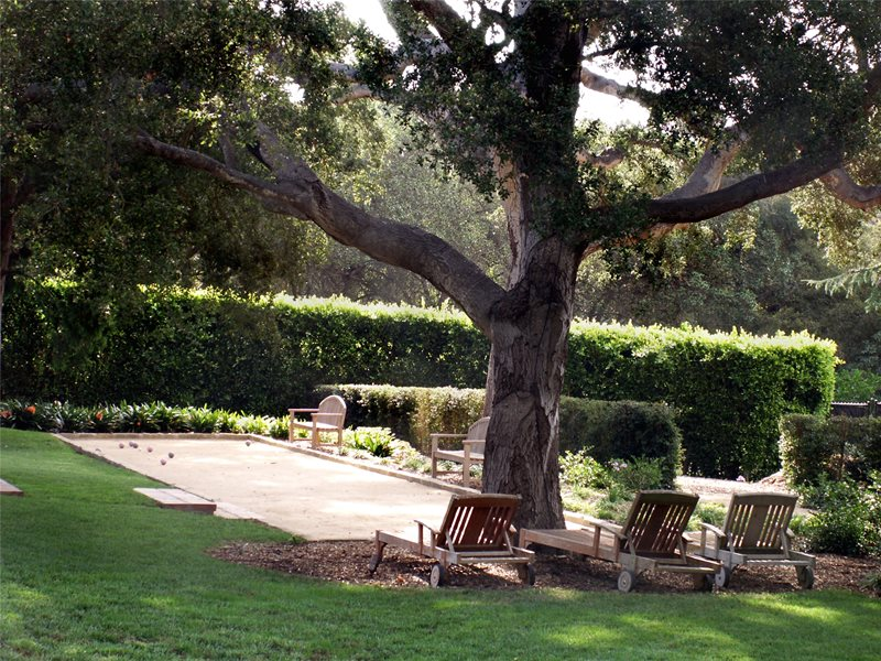 Bocce Ball Court Backyard Landscaping Grace Design Associates Santa Barbara, CA