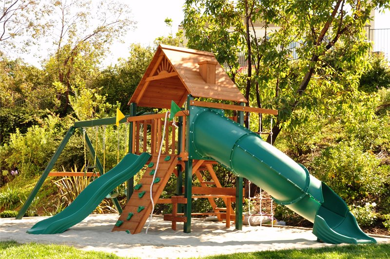 Large Backyard Playset Backyard Landscaping The Green Scene Chatsworth, CA