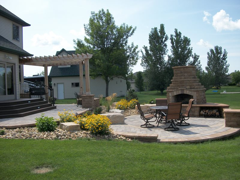 Outdoor Living Patio Cover Fireplace Backyard Landscaping Signature Landscapes Inc