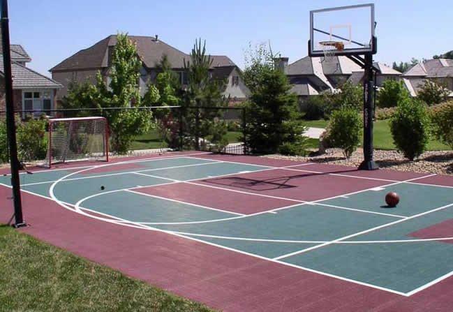 Backyard Sports Court backyard sport court - englewood, co - photo gallery - landscaping