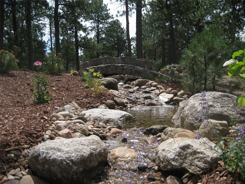 Stream Landscaping Boulder Accent Landscapes Colorado Springs, CO