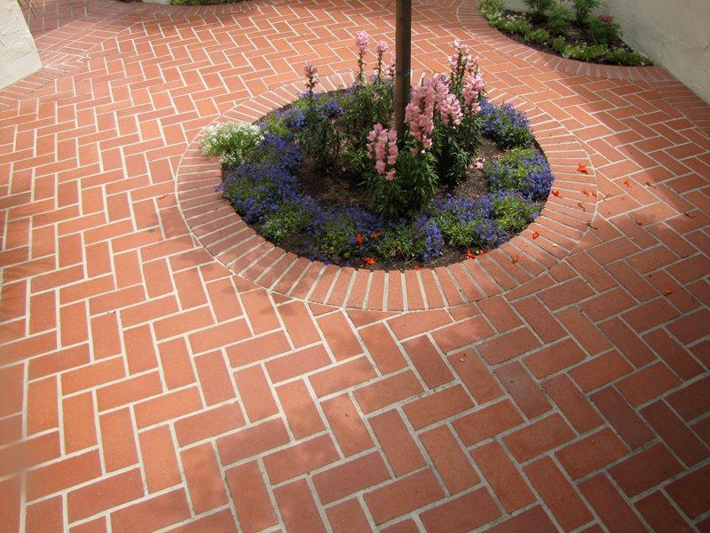 Brick Pattern, Herringbone Brick Hardscaping Landscaping Network Calimesa, CA