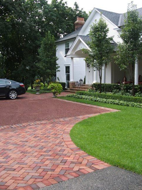 Brick Paving, Herringbone Brick Hardscaping Milieu Design Wheeling, IL