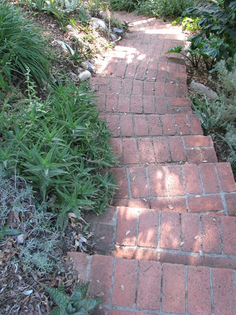 Brick Stairs, Garden Stairs Brick Hardscaping Landscaping Network Calimesa, CA