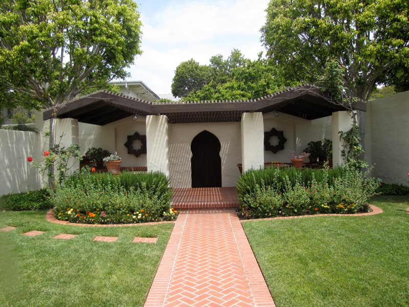 Brick Herringbone Brick Walkway Landscaping Network Calimesa, CA
