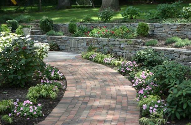 Brick Walkway Landscape Aesthetics Bernardsville, NJ