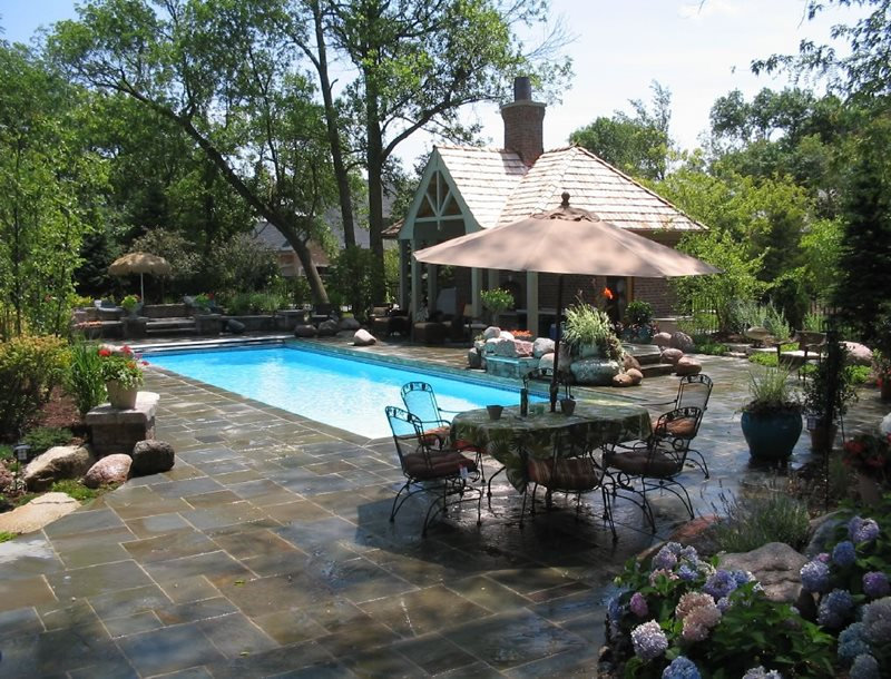 Rectangular Fiberglass Pool Canada Landscaping OGS Landscape Services Whitby, ON