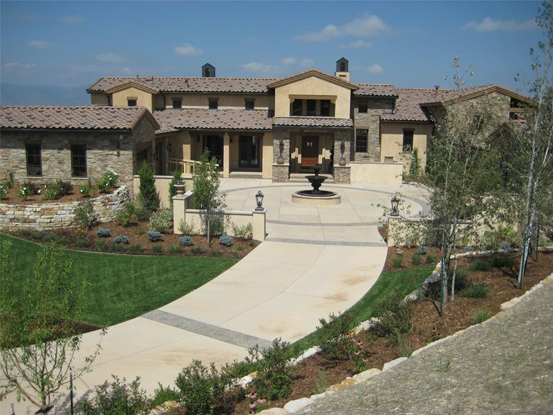 Front Motor Court Colorado Landscaping Accent Landscapes Colorado Springs, CO