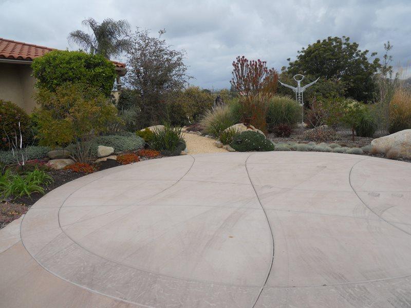 Concrete Driveway, Turnaround Concrete Driveway Landscaping Network Calimesa, CA