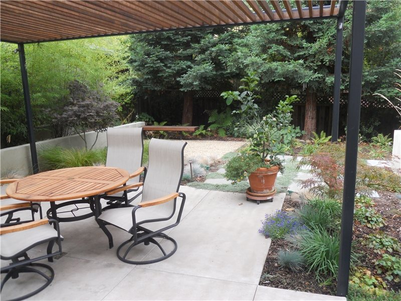 Concrete Patio Huettl Landscape Architecture Walnut Creek, CA